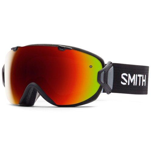 Smith Erwachsene Schneebrille I/OS Skibrille Rot Sol-X Mirror/Schwarz/Grau One Size