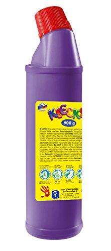 Feuchtmann Spielwaren 63306016 - KLECKSi 900 g hochwertige Fingermalfarbe - lila, Fingerfarbe in Flasche ideal für Kindergarten, Kita, Schule, Hort und soziale Einrichtungen