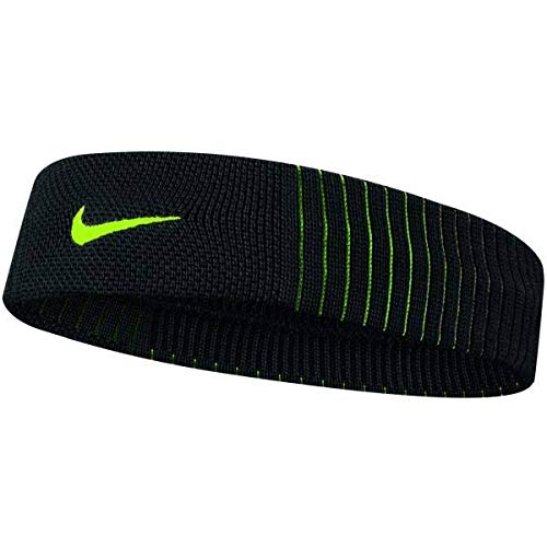 Nike Dri-Fit Reveal Headband black/volt/volt