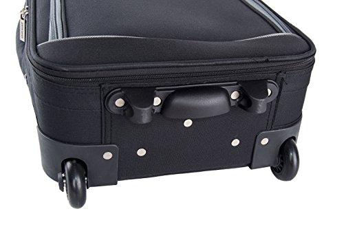 41bfNbUlxOL - Maleta semirrígida PIERRE CARDIN negro mini equipaje de mano ryanair VS11