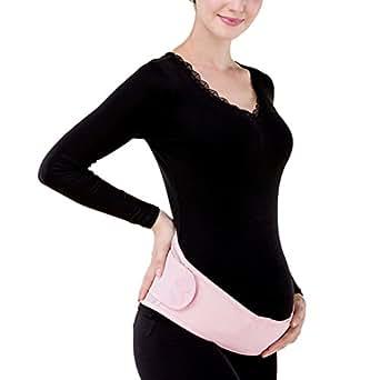 KOOYOL Damen Umstandsmode Bauchstütze Bauchband Bauchbänder (Pink)