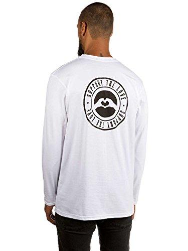 Herren Langarmshirt Love Stamped Hip T-Shirt White