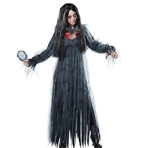 Halloween cosplay abbigliamento per le donne diavolo vampiro zombie fantasma sposa abito abbigliamento cosplay costume horror puntelli gioco anime costume (medio),black,l
