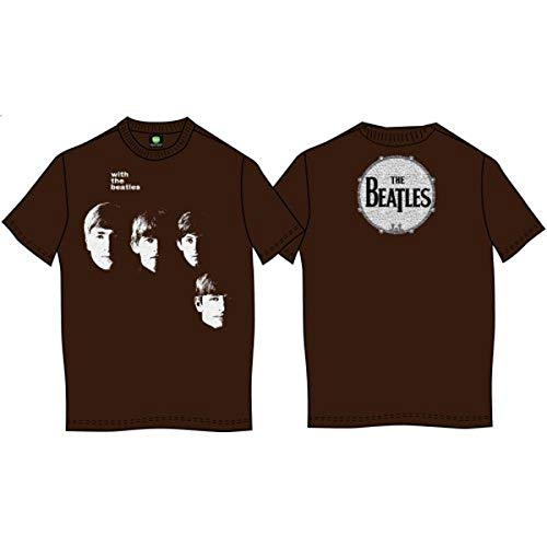 47c383f7d58b Premium The Beatles With the Beatles t-shirt Men's (Brown, X Large (XL))