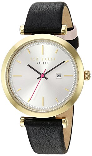 Ted Baker Women's 'AVA' Quartz Stainless Steel and Leather Dress Watch, Color Black (Model: 10031522)