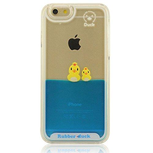 Generic Schutzhülle für iPhone 7 Hülle, 3D Enten Fließend Wasser Flüssigkeit Hard Klar Transparent Kunststoff Case Handyhülle für Apple iPhone 7 4.7 inch