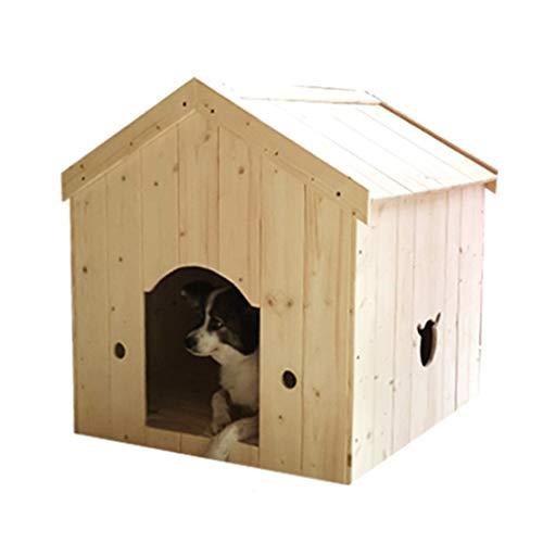 Zwinger Zwingers Haustierbett Aus Massivem Holz Vierjahreszeiten Universalnest Abnehmbar Und Waschbar Hundekisten & Zwinger (Color : Wood Color, Size : 70 * 61 * 70cm)