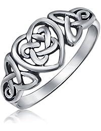 Bling Jewelry en plata esterlina nudos celtas irlandeses corazón promesa Ring