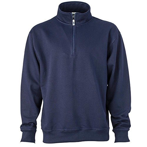 James & Nicholson - Workwear Half-Zip Sweatshirt Royal