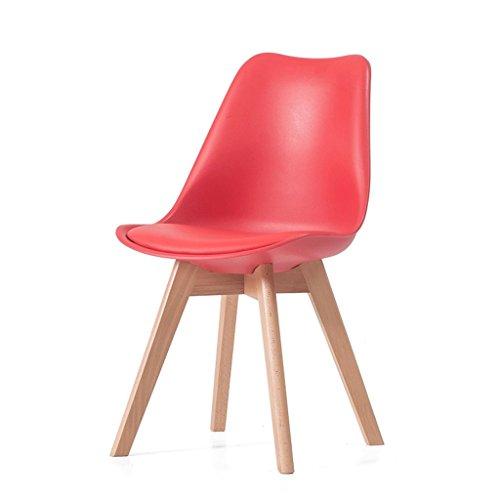 Fauteuils Chaise longue en bois massif à la maison Chaise longue à la chaise en bois Fauteuils et Chaises (Couleur : Rouge)