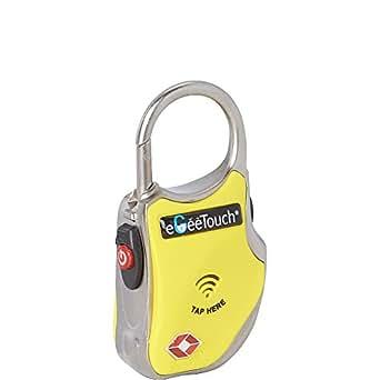 egeetouch® Smart da viaggio lucchetto con brevettato tecnologie, doppio accesso (NFC + BT), nelle vicinanze Tracking, etc. (Nero), Giallo, 1