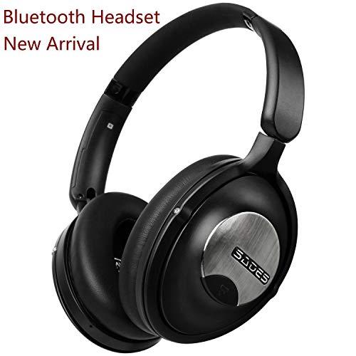 Mumuj SADES D803 Gaming Headset, Kopf mit Drahtloser Bluetoot Kopfhörer Wireless Music Ohrhörer Stereointegriertem Mikrofon Headset für PC/Telefon/LOL