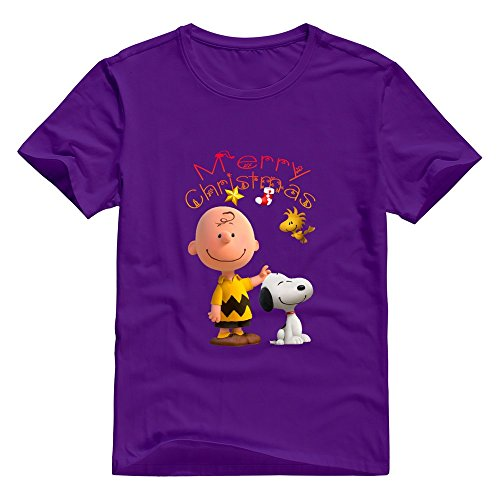 KST Herren T-Shirt Gr. X-Large, Violett - - Charlie Halloween Brown T-shirts