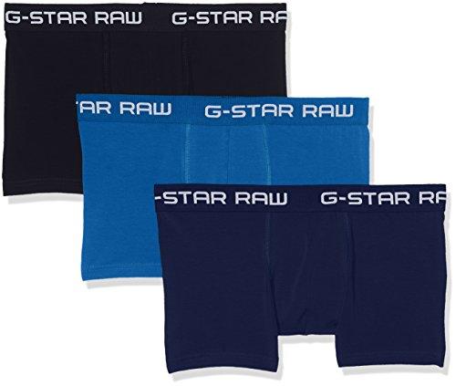 G-STAR RAW Herren Classic Trunk CLR 3 Pack Shorts, Mehrfarbig (Lt Nassau Blue/Imperial B 8528), Medium
