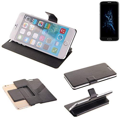 K-S-Trade Schutz Hülle für Bluboo Edge Schutzhülle Flip Cover Handy Wallet Case Slim Handyhülle bookstyle schwarz