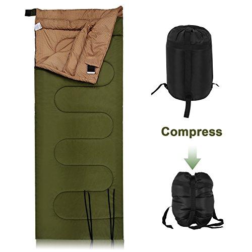 YUEBO wasserfester Erwachsene Schlafsack für 3 Jahreszeiten, Outdoor Camping Deckenschlafsack, koppelbarer Schlafsack mit 2-Wege Reißverschluss