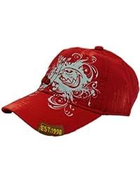 Strike Schildmütze mit Adlerkopf und floralem Design rot