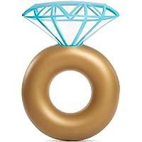 YAMI Adultos Inflable Anillo De Diamantes Flotador para La Piscina - Anillo De Compromiso Fiesta De