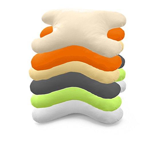 Hefel My Face Kissen Bezug 40x60 cm, Geheimwaffe gegen Falten in verschiedenen Farben (taupe)