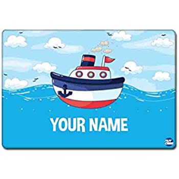 Nutcase Personalized Dinner Table Mats for Baby Boy and Girls with Lifelong Non Fading Print Design - Single Piece (16 x 12 Inches, Multicolour)