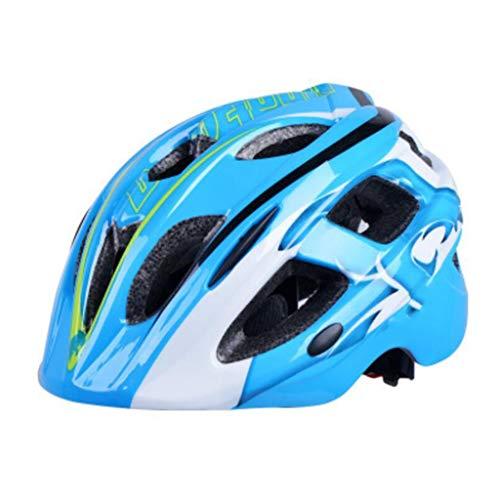 JNYZQ Fahrradhelme für Kinder Radsportausrüstung Sicherheitsbekleidung für Jungen und Mädchen Rollschuhlaufen Rollschuhe Schutzhelm (Farbe : Blau)