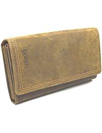 e4884e3a46d0b Pedro Italy Große Büffel Leder Damen Brieftasche geöltes Leder mit dreifach  Naht Hand Made German Design