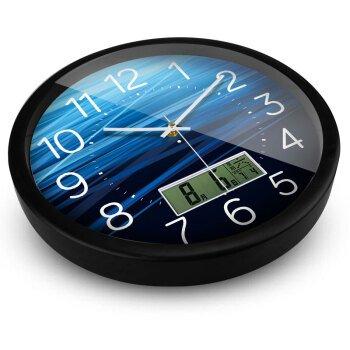 Wanduhr Modern Neu Für Jeden Raum präzise Kreative Clock Mode Uhr Kreative Schlafzimmer Wohnzimmer Wandhalterung Uhr Sonnenblume 14 Zoll Black Box, Deep-Sea