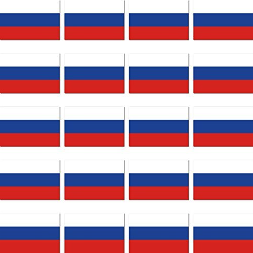GreenIT 20 Stück 2cm Russland Flagge Fahne RC Modellbau Mini Aufkleber Sticker Modellbauaufkleber