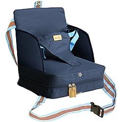 Roba Booster en tant que Siège Rehausseur de voyage et siège pour enfant en bleu, gonflable Mobile