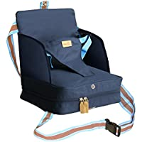 Roba Booster Asiento en azul, móvil hinchable infantil Asiento como asiento elevador y asiento de viaje