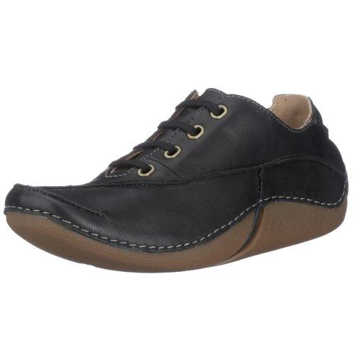 Clarks Fabulous Icon 2032, Sneaker donna Nero (Black Leather)