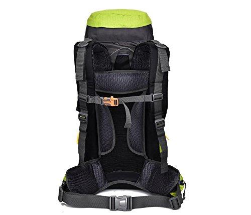 Camping Wandern Outdoor Bergsteigen Tasche regen Abdeckung großer Kapazität Rucksack für Männer und Frauen 50 L + 5 L Black