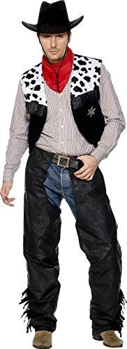 y Kostüm, Chaps, Weste, Gürtel und Halstuch, Größe: L, 31754 (Cowboy Chaps Kostüme)
