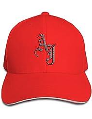 Feruch AJ Styles WWE Adjustable Snapback Peaked Cap Baseball Hats Red