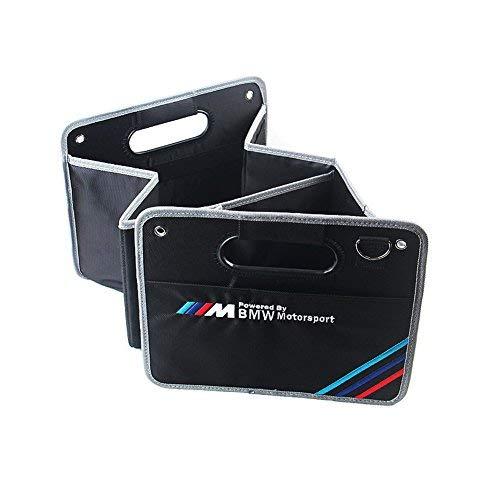 S-WEKA Kofferraum-Organizer, zusammenklappbar, für BMW M Sport x1x3x5x6, 3er-Serie, 5er-Serie, Schwarz