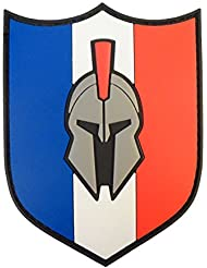 Spartan France Drapeau Drapeau PVC Gomme Morale Tactical Molon Labe Hook&Loop Écusson Patch