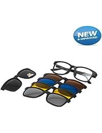 Vast Polarized Clip Sunglasses Plus Spectacle Frame (5 IN 1)