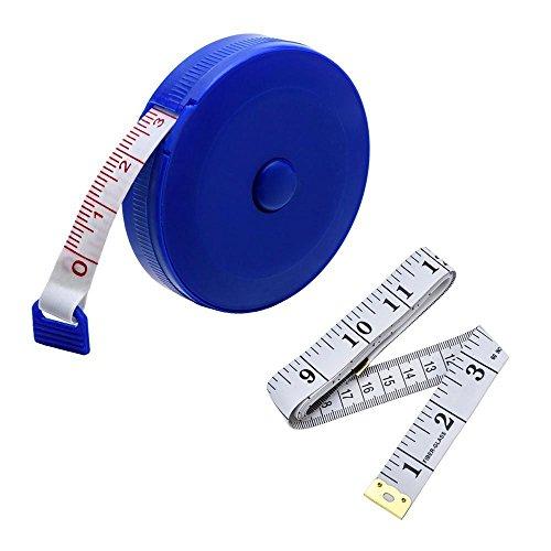 jsdoin 152,4cm 1,5Meter Weich Maßband und einziehbare Maßband Set