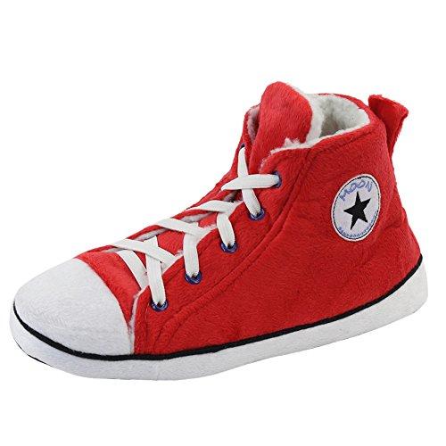 Gohom ,  Herren Chelsea Boots Rot / Schwarz