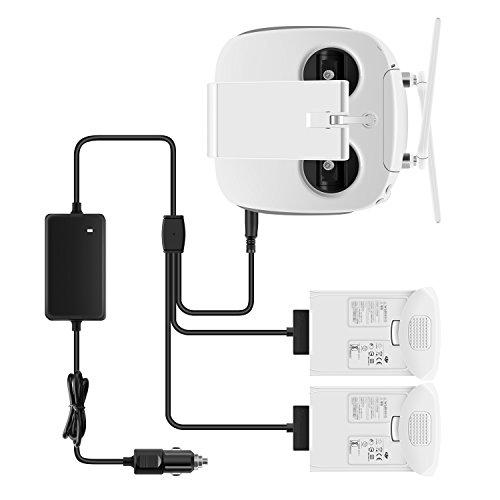 Penivo 3in 1intelligent auto caricabatterie phantom 4series, telecomando + batteria caricatori per dji phantom 4/4pro/pro +/advanced drone accessori