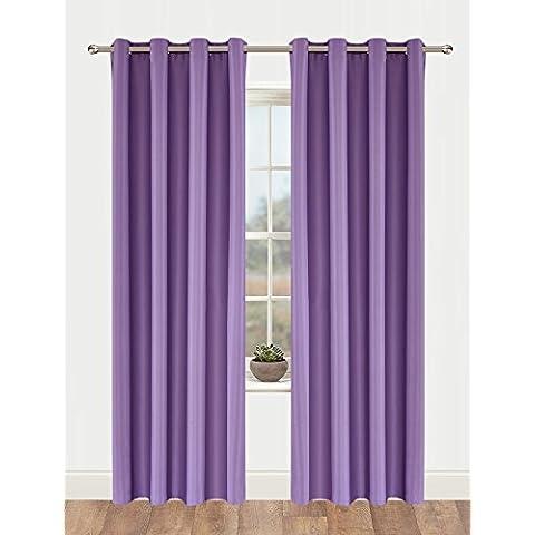 OnlyYou - Cortinas Opacas (1 Unidad, 135 x 183 cm), Púrpura