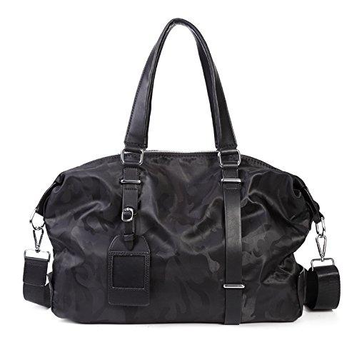 Mefly Neue Männermode Handtasche Reisetasche Tasche Crossbody Casual Camouflage black
