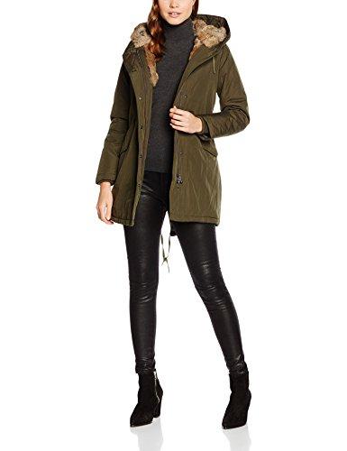 Canadian Classics Damen Jacke Lanigan Real Fur, Grün (Army Arm), 40 (Herstellergröße: ML (IT 46))