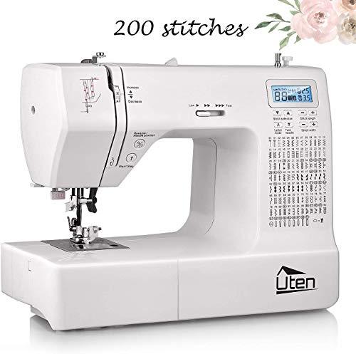 Uten Machine à Coudre Electronique 200 Points 8 Types de...