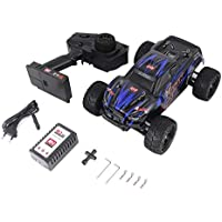 RC Racing Car, 1/16 Escala 2.4G 40 KM/h Alta Velocidad 4WD Camión Todoterreno Cepillado Big Wheels Bigfoot SMAX RC Control Remoto para automóvil, Azul