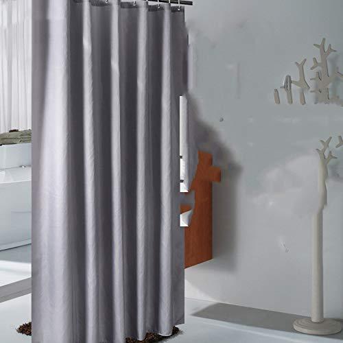 oppinty Free Punching Bad Duschvorhang Trennwand Vorhang wasserdicht verdickend Mehltau Bad High-End-Dusche Teleskopstange grau grau