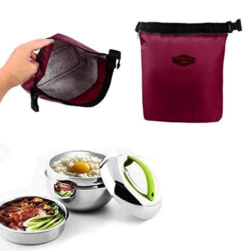 Bolsas de almuerzo, Nevera térmica impermeable aislado almuerzo caja portátil Tote almacenamiento...