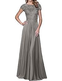 La mia Braut Blau Lang Spitze Brautmutterkleider Abendkleider Formal Kleider  Festlich Kleider Bodenlang A-Linie Rock 7473da05c9