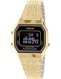 CASIO LA-680WG-1B - Reloj con movimiento cuarzo, para mujer, color negro y dorado