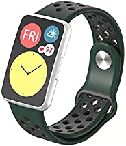 Dado Replacement Silicone Band compatible with Huawei Fit Watch, double color Huwaei fit watch strap